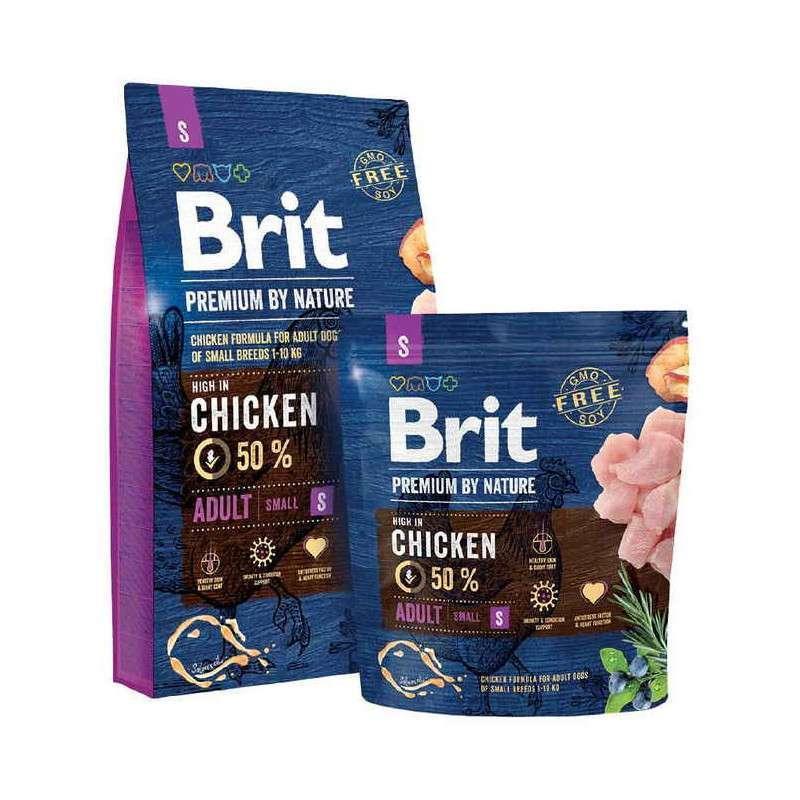 Акция Brit Premium Dog Adult S 8кг+1кг - сухой корм Брит Премиум Дог для собак мелких пород с курицей