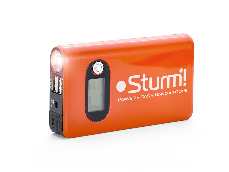 Пуско-зарядное устройство 14000 мА*ч + Power Bank + LED фонарь Sturm BC1214