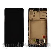 Дисплей для Samsung A415 Galaxy A41 (GH82-22860A) з рамкою, Black (Service Pack Original)