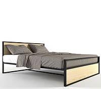 Кровать двухспальная в стиле Лофт, ЛЛ4