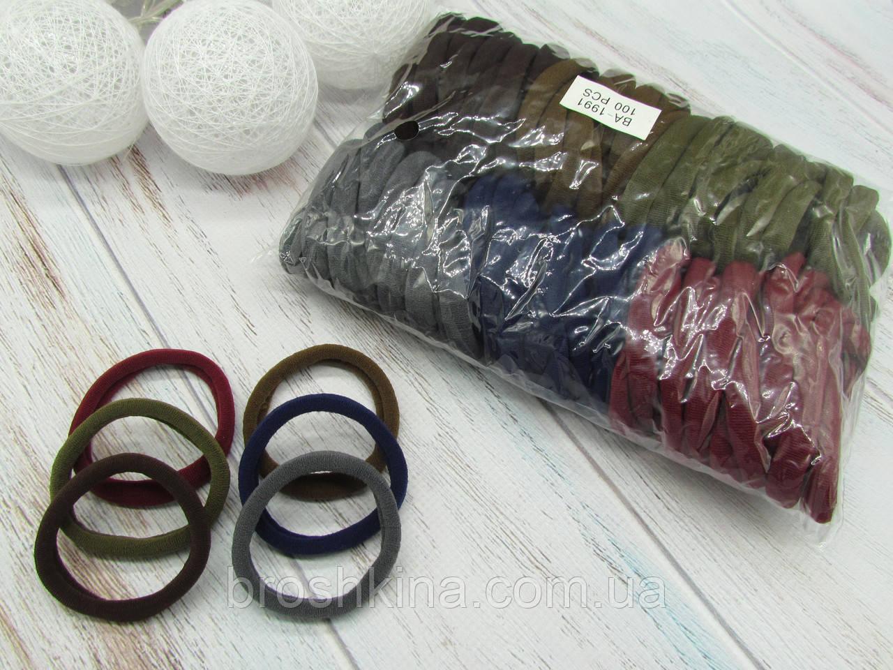 Резинки для волос Ø5 см микрофибра 100 шт/уп.