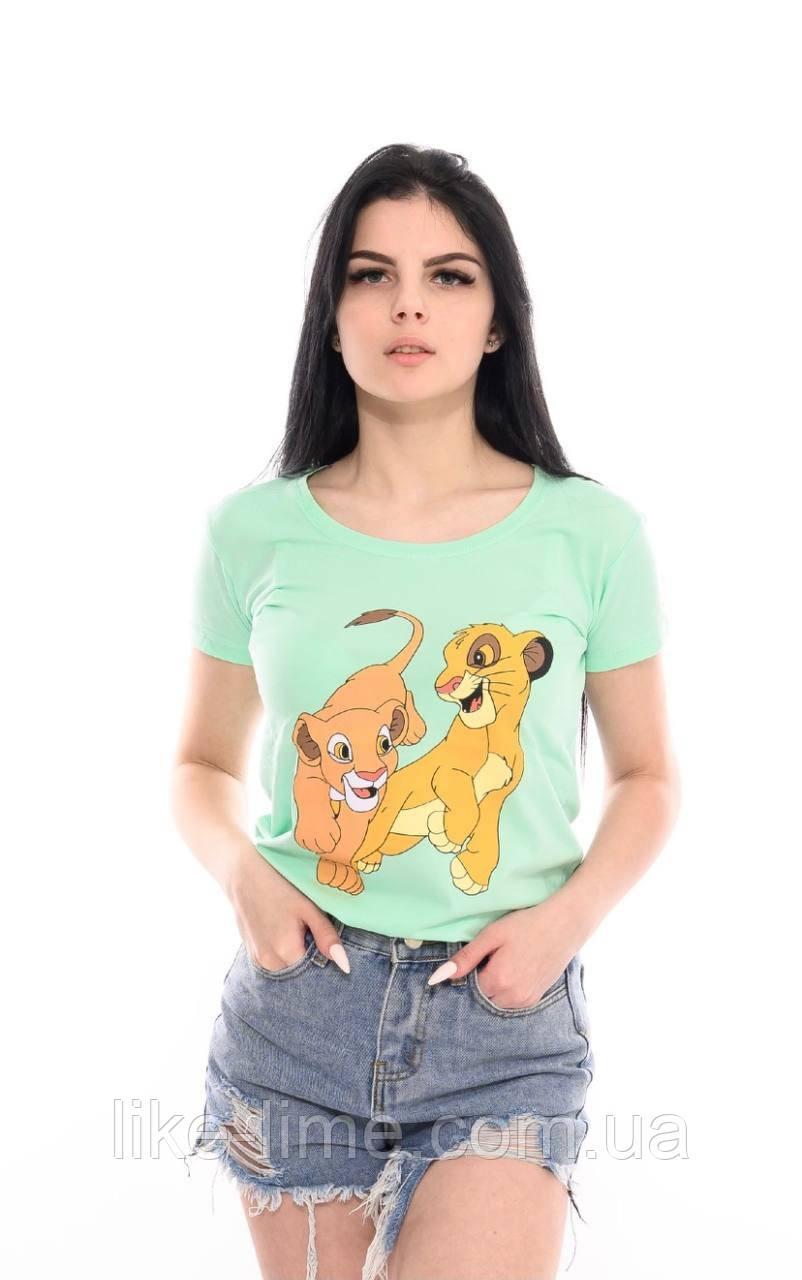 Женская стильная футболка Симба