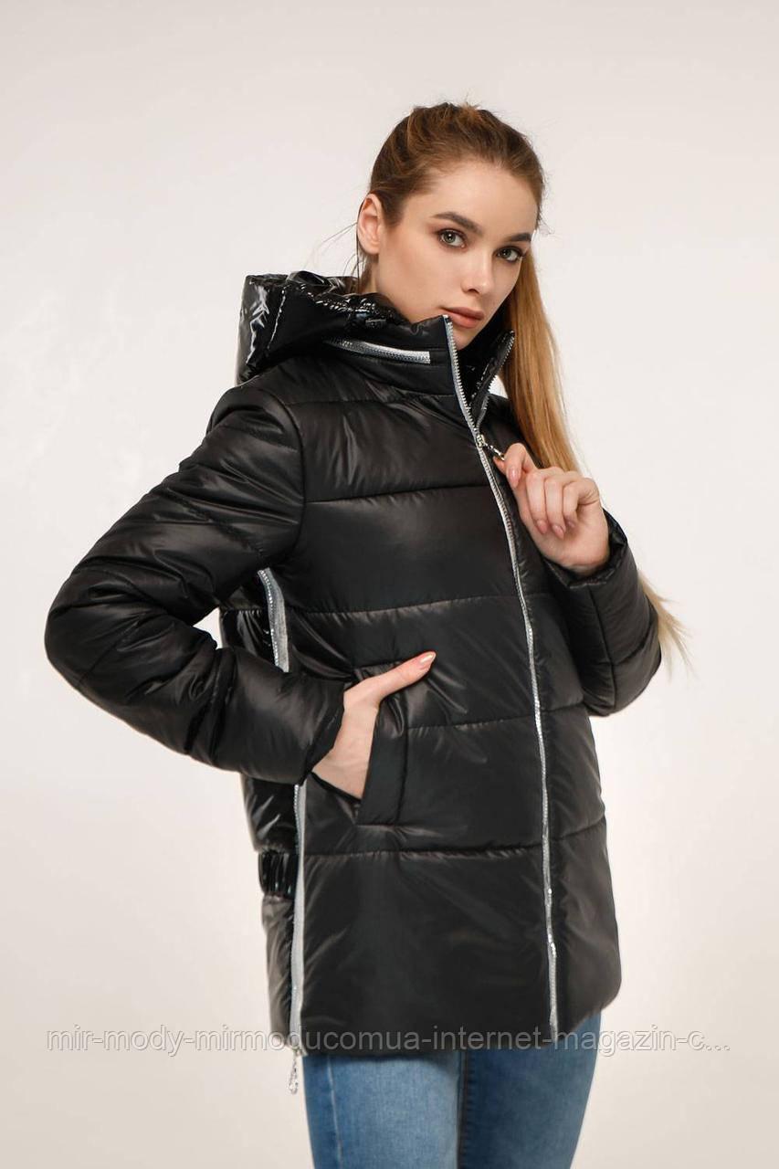Куртка женская  стеганая демисезонная В-1272 Лак с 44 по 54  размер тон-21 (фт)