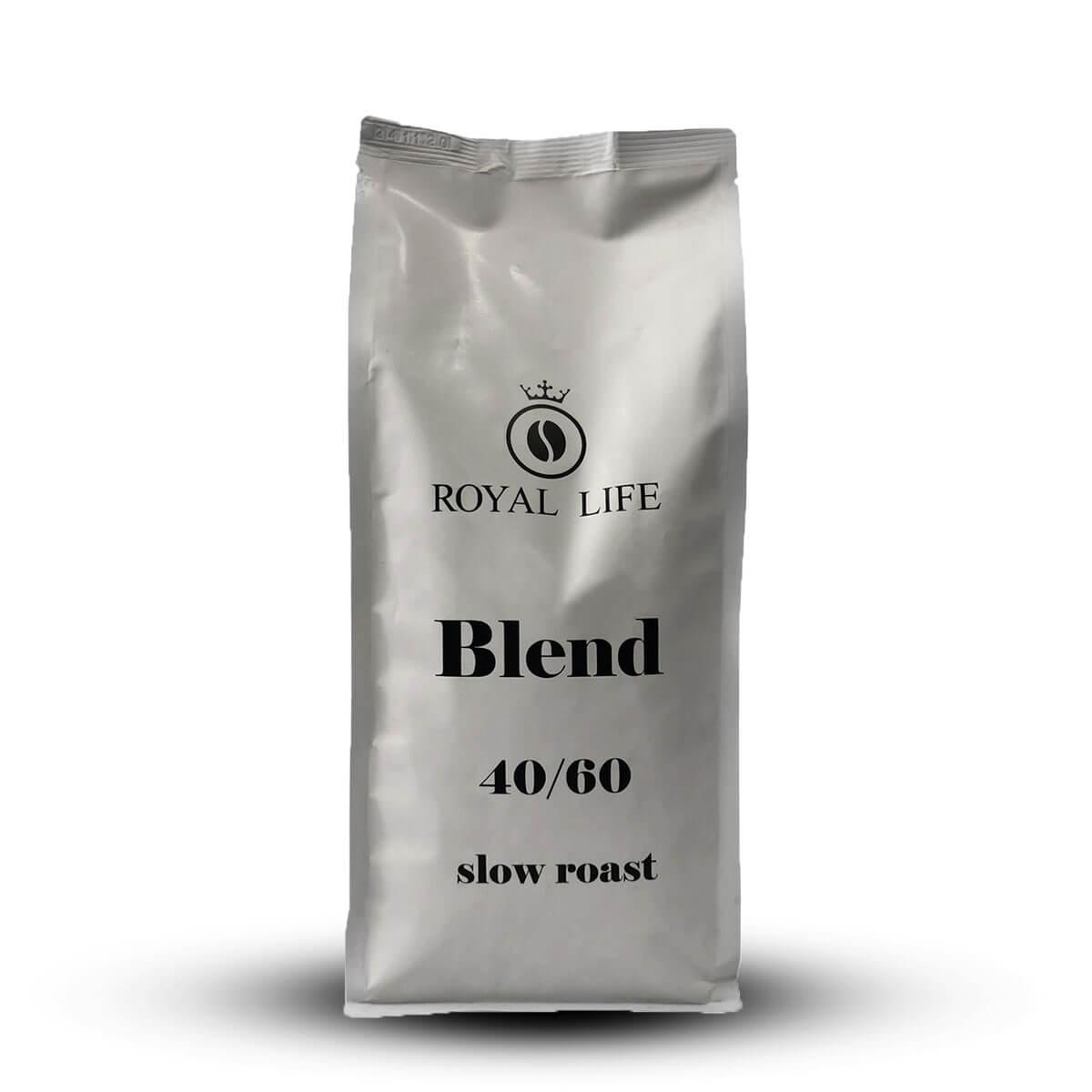 Кофе Royal Life Slow Roast (40% Арабика, 60% Робуста) в зернах 1 кг
