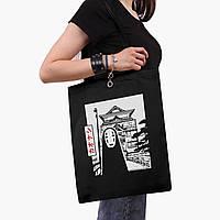 Еко сумка шоппер чорна Безликий Бог Каонасі Віднесені примарами (Spirited Away) (9227-2648-2) 41*35 см