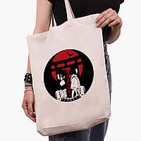 Эко сумка шоппер белая Тихиро Огино Сэн и Хаку Унесённые призраками (Spirited Away) (9227-2649-1)  41*39*8 см , фото 1