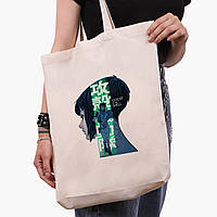 Эко сумка шоппер белая Мотоко Кусанаги Призрак в доспехах (Ghost in the Shell) (9227-2651-1)  41*39*8 см , фото 1