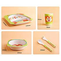 Дитячий посудний набіор бамбуковий 5 предметів Коровка HLS (4309), фото 2