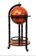 Глобус бар напольный на 3 ножках коричневый