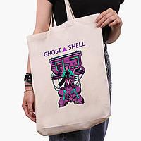 Эко сумка шоппер белая Мотоко Кусанаги Призрак в доспехах (Ghost in the Shell) (9227-2652-1)  41*39*8 см , фото 1