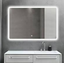 Зеркало DUSEL LED DE-M3011 120смх75см сенсорное включение+подогрев+часы/темп