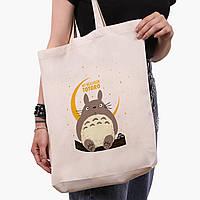 Эко сумка шоппер белая Мой сосед Тоторо (My Neighbor Totoro) (9227-2657-1)  41*39*8 см , фото 1