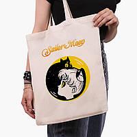 Эко сумка шоппер Сейлор Мун (Sailor Moon) (9227-2660)  41*35 см , фото 1