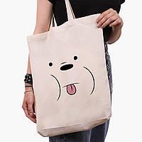 Эко сумка шоппер белая Белый медведь Вся правда о медведях (We Bare Bears) (9227-2662-1)  41*39*8 см, фото 1