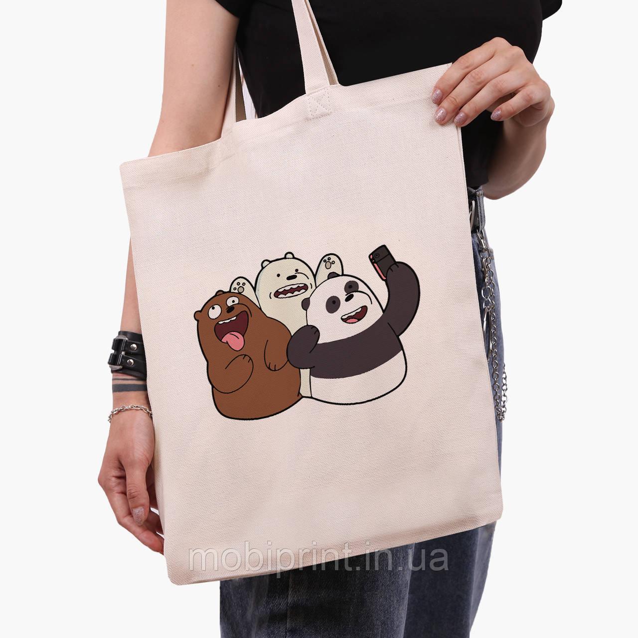 Еко сумка шоппер Вся правда про ведмедів (We Bare Bears) (9227-2665) 41*35 см