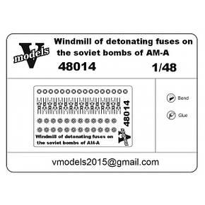 Крыльчатки на бомбы. Фотоотравленные детали. 1/48 VMODELS 48014, фото 2