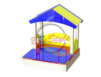 Детский домик с песочницей BruStyle DIO251