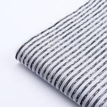 """Ткань сатин """"Полоска с пробелами графитовая"""" на белом, №3282с, фото 3"""