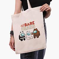 Эко сумка шоппер Вся правда о медведях (We Bare Bears) (9227-2668)  41*35 см , фото 1