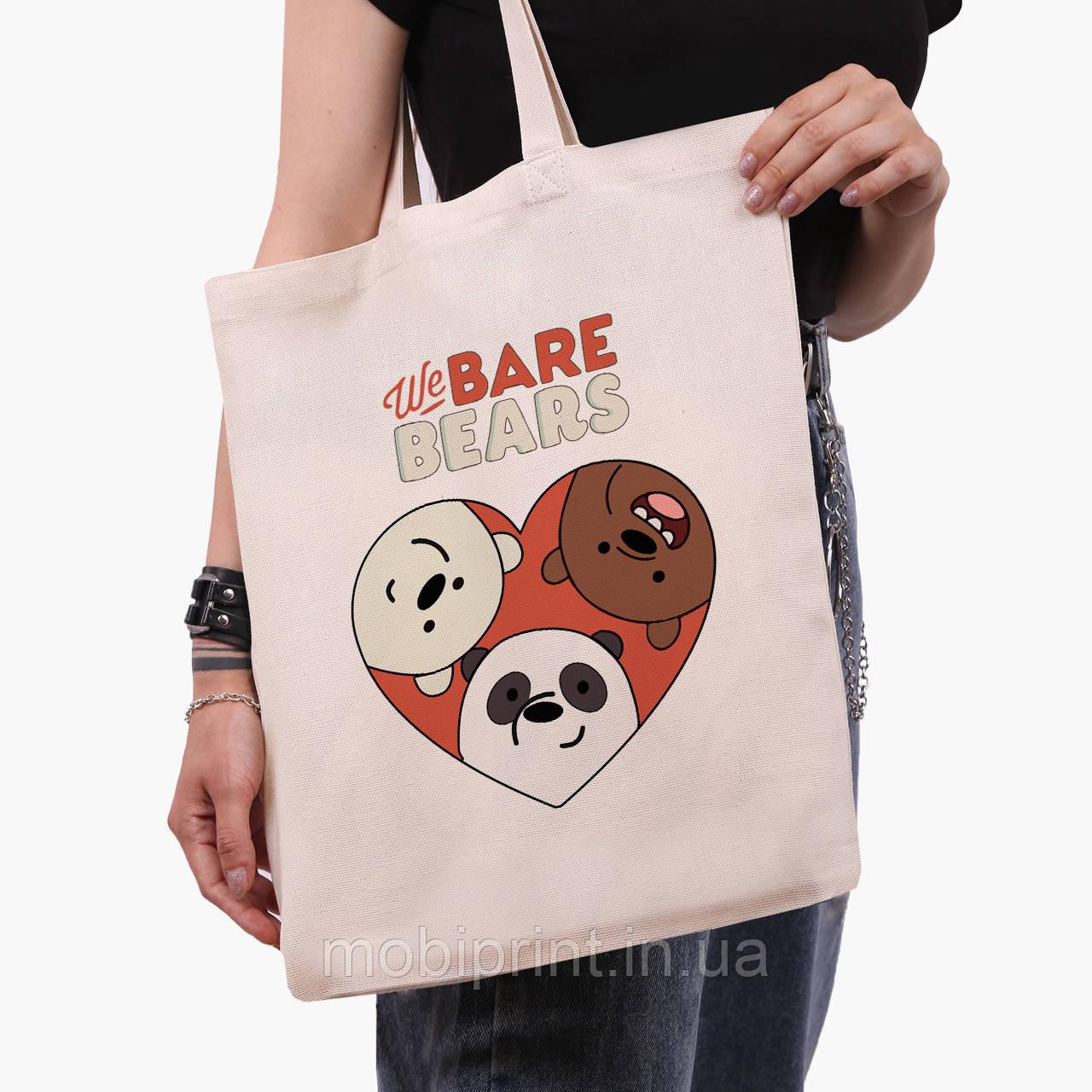 Эко сумка шоппер Вся правда о медведях (We Bare Bears) (9227-2669)  41*35 см