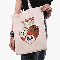 Эко сумка шоппер Вся правда о медведях (We Bare Bears) (9227-2669)  41*35 см , фото 1