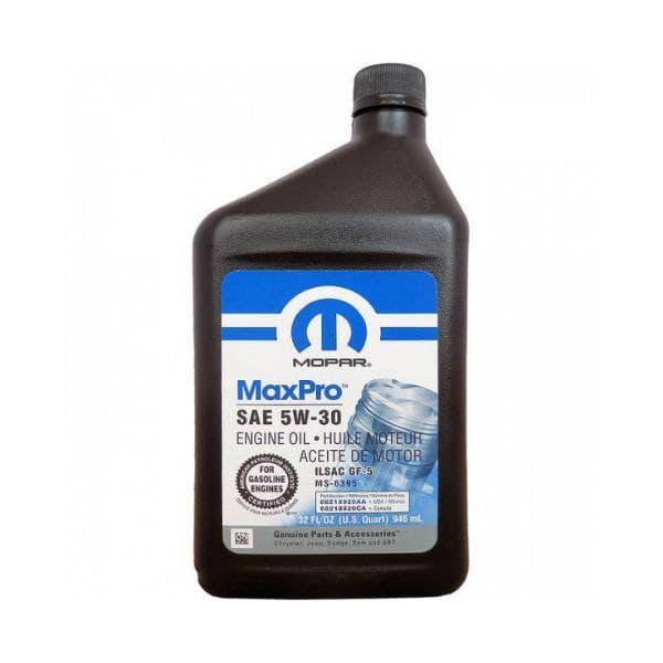 Моторное масло Mopar MaxPro 5W-30  0.946л  68218920AC
