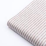 """Ткань сатин """"Полоска с пробелами бежевая"""" на белом, №3283с, фото 3"""