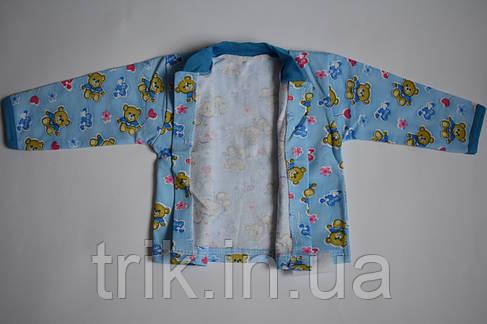 Кофта для новорожденных начес мишки на голубом, фото 2
