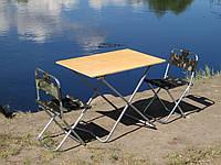 """Набір меблів туристичний складаний, стіл і стільці зі спинкою, пром юа """"Кемпінг Ф1+2"""""""
