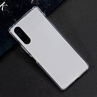 Чехол Fiji Line для Sony Xperia 10 II силикон бампер прозрачный белый