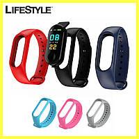 Дополнительный ремешок к фитнес-браслету Mi Band / Цвет на выбор!