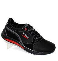 Демисезонные мужские спортивные туфли черные, фото 1