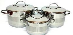 Набір посуду - 15 предметів Berlinger Haus BLACK SILVER Collection BH 6155