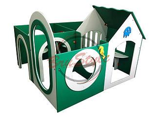 Детский домик-лабиринт (4 секции) BruStyle DIO216