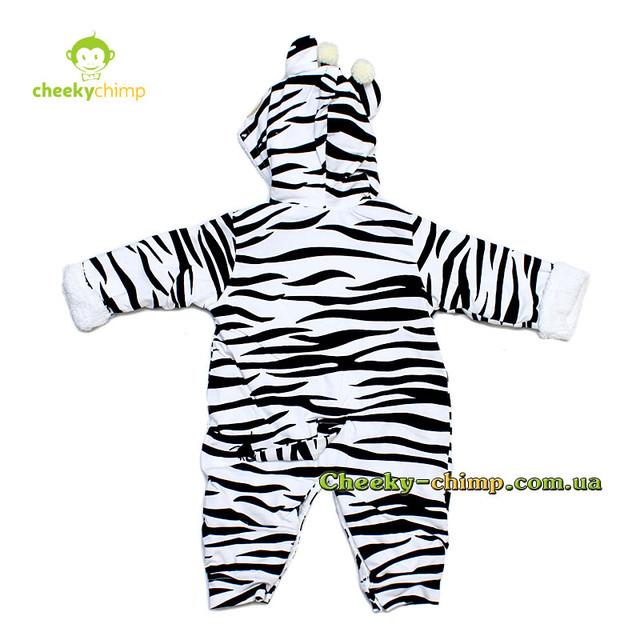 Комбинезон на махре для мальчика Zebra на рост 56, 62 см