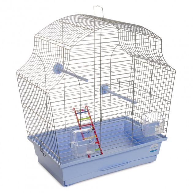 """Клетка для птиц Природа """"Мери"""" цинк 44*27*54 см (голубая)"""