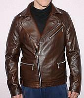 """Куртка-косуха чоловіча кожзам демісезонна , розміри 46-56 """"LILU"""" недорого від прямого постачальника"""
