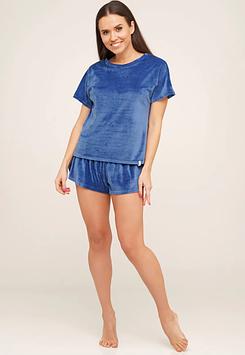Бархатная пижама футболка шорты