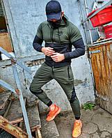 Спортивный костюм мужской BWS весенний осенний летний хаки | Комплект Кофта + Штаны ЛЮКС качества, фото 1