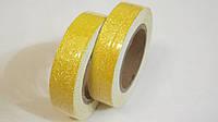 Скотч декоративный блестящий желтый, фото 1