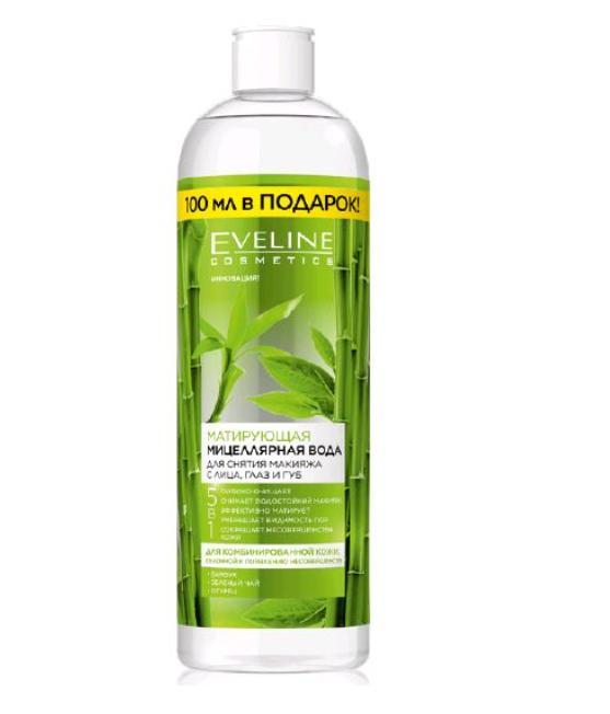 Матуюча міцелярна вода для обличчя 5 в 1 Eveline Cosmetics, 500 мл Евелін