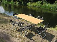 """Складні столи і стільці зі спинкою """"Кемпінг Ф2+6"""" (2 стола та 6 стільців)"""