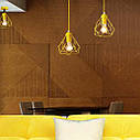 Підвісна люстра на 5 ламп RUBY-5G E27 на круглій основі, жовтий, фото 2