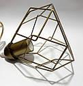 Підвісна люстра на 3-лампи RUBY-3 E27 золото, фото 6