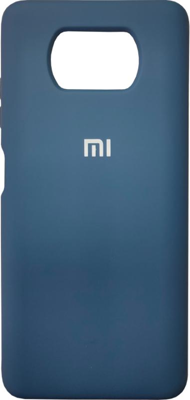 Чехол Silicone Case Xiaomi Poco X3/ Poco X3 Pro (синий)