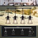Подвесная люстра на 4-лампы SANDBOX-4 E27 чёрный, фото 9