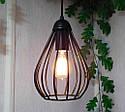 Підвісна люстра на 2-лампи FANTASY-2 E27 чорний, фото 3