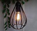 Підвісна люстра на 2-лампи FANTASY-2 E27 чорний, фото 5