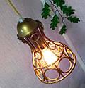 Підвісна люстра на 5 ламп RINGS-5 E27 золото, фото 6