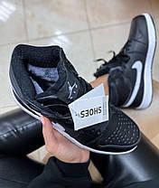 Женские кроссовки Nike Air Jordan 1 Retro Black Fur, фото 3